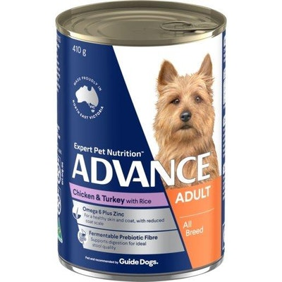 Advance Wet Dog Food Adult Chicken And Turkey 410g