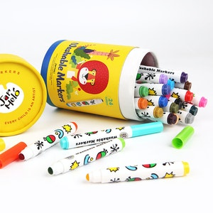 JarMelo SPECIAL ROUND TIP WASHABLE MARKER -24 COLORS