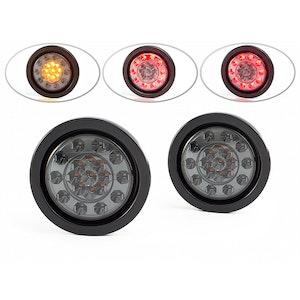 "4"" Flush Mount LED Stop / Tail / Indicator Lights - Pair"
