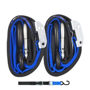 Gorillas Grip Snap Hook 38mm Tie Downs - Black / Blue