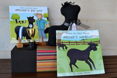 Archie the Black Alpaca Soft Toy and Books Gift Set