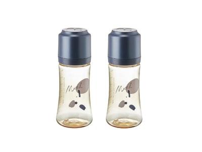 Mother-K PPSU Feeding Bottle 280ml - NAVY TWIN PACKS