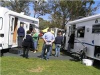 Motorhomes drew plenty of interest