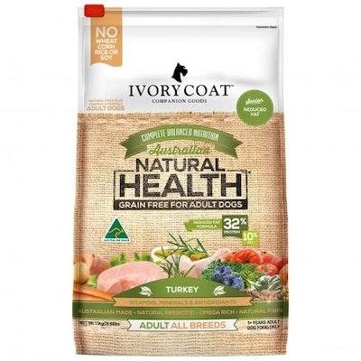 IVORY COAT Grain Free Fat Reduced Senior Turkey Dry Dog Food 13kg