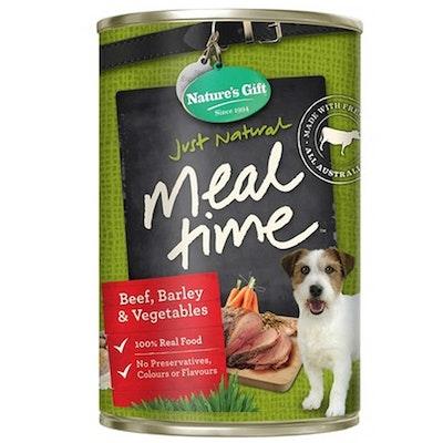 NATURES GIFT Beef Barley & Vegetables Dog Food 12 x 700g