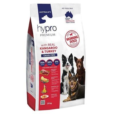 Hypro Premium Working Dogs Dry Dog Food Real Kangaroo & Turkey 20kg