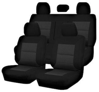 Premium Car Seat Covers For Mitsubishi Triton Ml-Mn Series 2006-2015 Dual Cab | Black