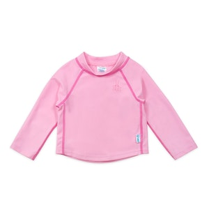 green sprouts Long Sleeve Rashguard Shirt-Light Pink