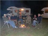 Some of the group around the campfire Bowenville Rest Area