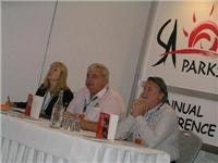 Fiona Williams, Richard Davis and Alan Rowett run the top table at SAParks Conference