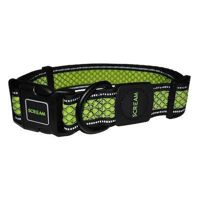 ScreamPet Scream Reflective Adjustable Dog Collar Loud Green - 4 Sizes