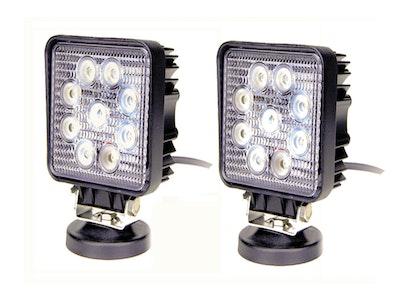 "4"" 1170 Lumen 27 Watt x 2 Square LED Work / Flood lights"