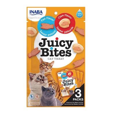 INABA Juicy Bites Cat Treat Fish & Calm Flavor 6 x 34g