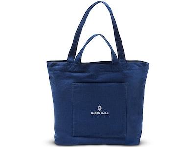 Björn Hall Cotton Nursing Tote Bag – Navy Blue