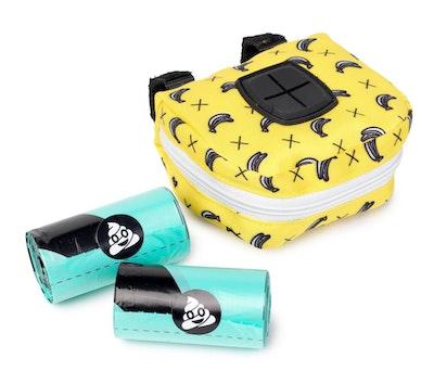 FuzzYard Poop Dispenser Bag Monkey Mania Yellow