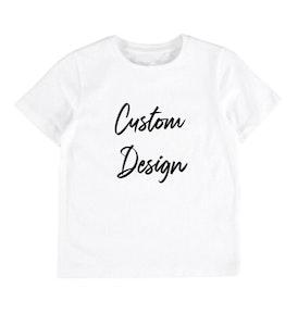 Custom Design Kids T-shirt - White