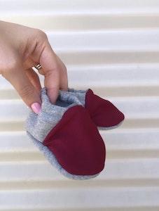 Bibbidi Bub Maroon & Grey Shoes