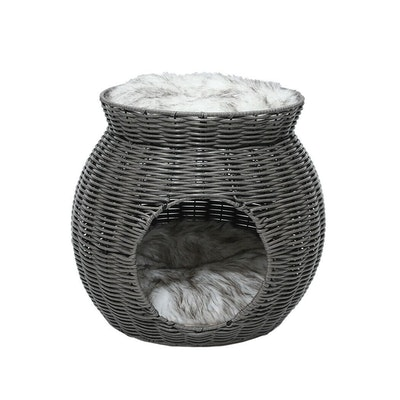 House of Pets Delight Wicker Cat Bed Nest