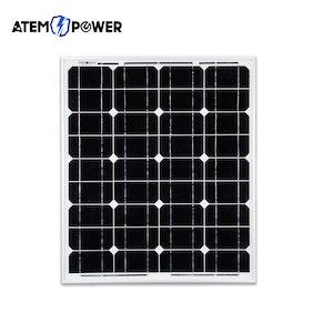 ATEM POWER ATEM POWER 60W Solar Panel 12V Mono Generator Caravan Camping Battery Power Charging