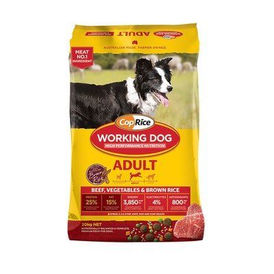 Coprice Working Dog Adult Dry Dog Food Beef Vegetables & Brown Rice 20kg