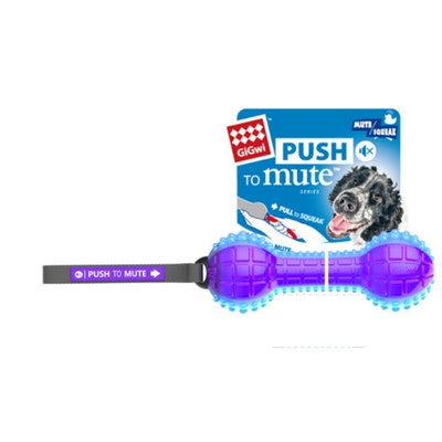 GIGWI Dumbbell Push To Mute