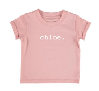 Personalised Name Tee - Blush Pink