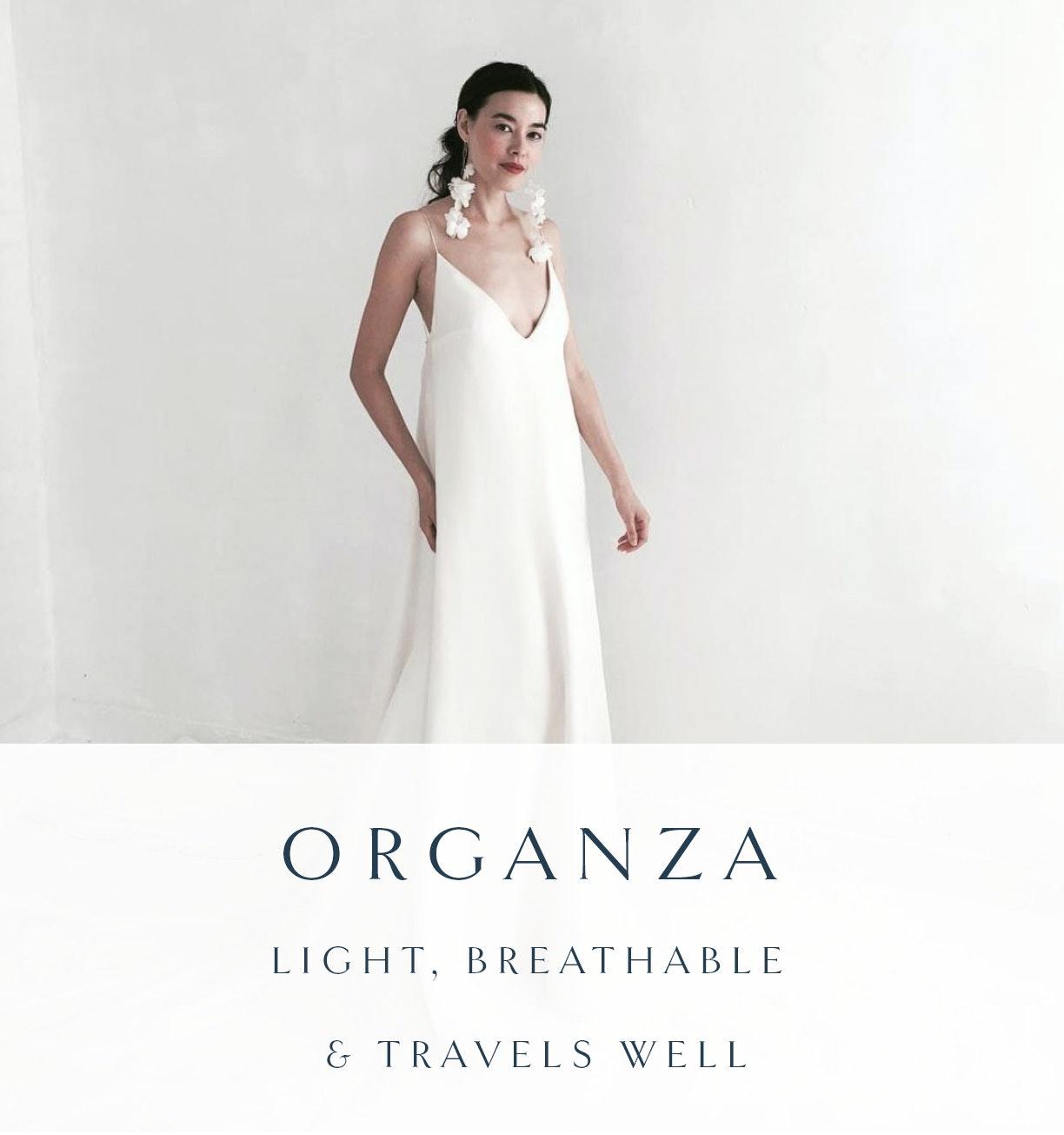 organza wedding dress fabric