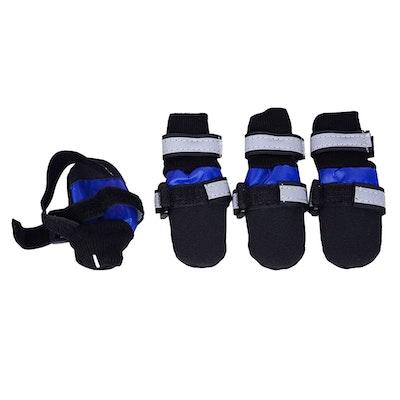 Zeez Dog Waterproof Boots Non-Slip Sole Dog Boots Blue - 5 Sizes