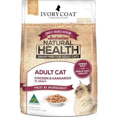 IVORY COAT Grain Free Adult Chicken & Kangaroo Wet Cat Food 85G