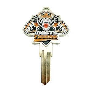 Creative Keys NRL Team Logo Key Blank LW4 - Wests Tigers
