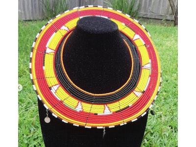 Enkishaa Accessories Beaded layered necklace big