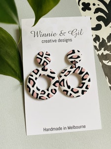 Winnie and Gil Nougat Large Hoops