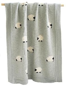 Alimrose - Baa Baa Organic Cotton Baby Blanket - Grey