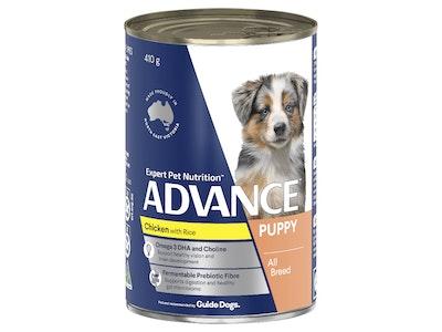 Advance Puppy Plus Growth Chicken & Rice 410G X 12 Cans