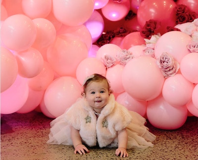 AN IMPRESSIVE BLUSH + RED FIRST BIRTHDAY PARTY