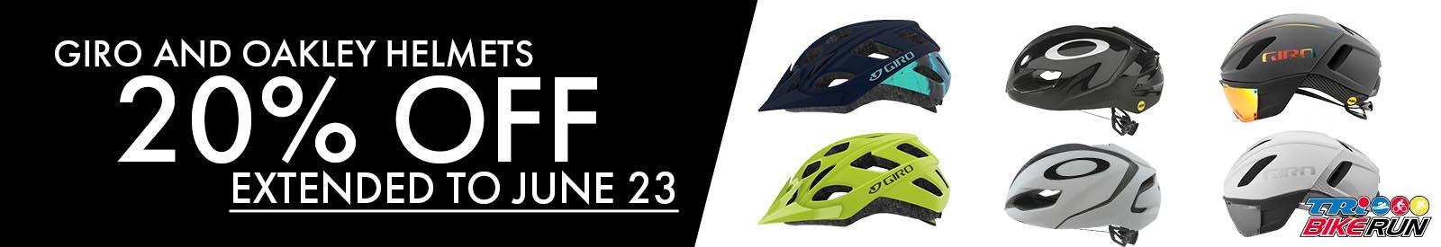 Helmet Sale 20% off till june 16