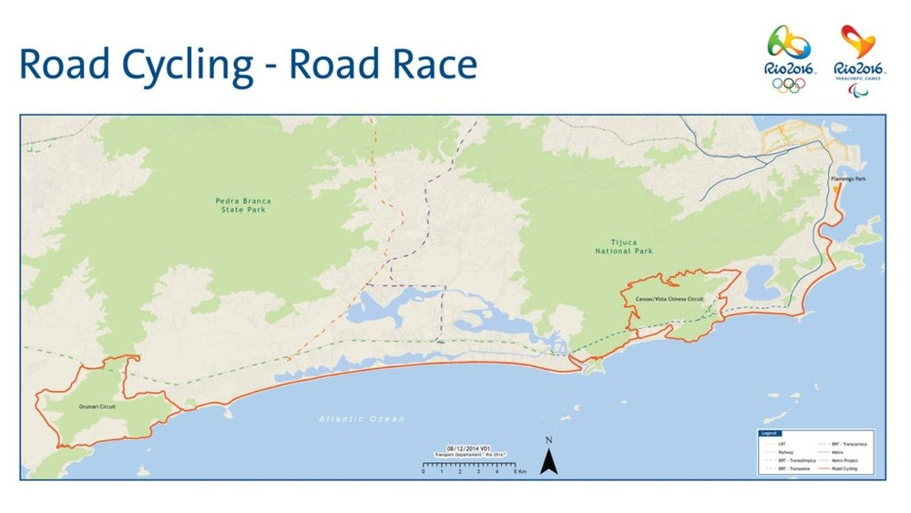 Rio Olympics Course Map Womens road race 2016