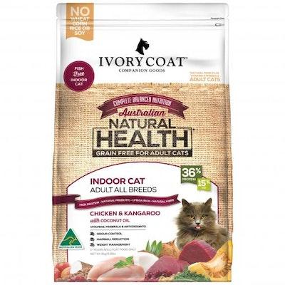 IVORY COAT Grain Free Indoor Adult Chicken & Kangaroo Dry Cat Food