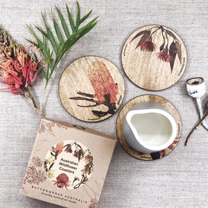 Coloured Wildflower Coasters
