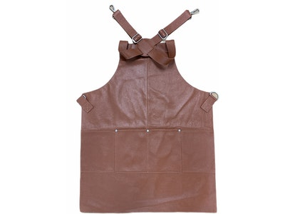 Boutique Medical BUFFALO LEATHER APRON Cooking Chef Hairdresser Waterproof Durable Quality - Tan
