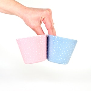 Ceramic Small Cup - Dotty Pink