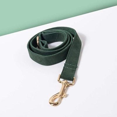 Barker & Bone Luxe Dog Leash | Dark Green