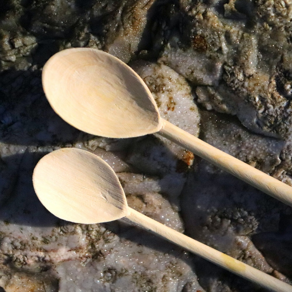 Natural Spa Supplies Wooden Spoon: Handmade Various Sizes