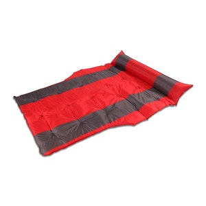 Trailblazer Self-Inflatable Air Mattress With Bolsters And Pillow | Red