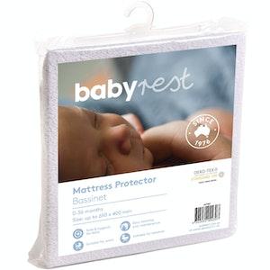 Babyrest Waterproof Mattress Protector. Bassinet - 650 x 400 mm