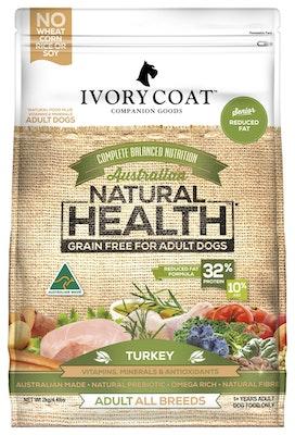IVORY COAT Grain Free Dry Dog Food Low Fat Turkey 13kg
