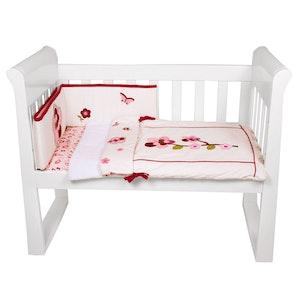 Babyhood Amani Bebe 3pce Cradle Set Raspberry Garden