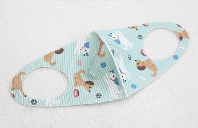 Reusable Ion Infused Face Mask (2-4yrs old) - Happy Doggy Mint