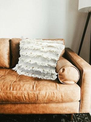 SATTVA WORLD Ilona BOHO Handmade Decorative Neutral Cushions Cover with Fringes