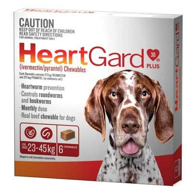 Heartgard Worming Treatment 23-45kg Dog